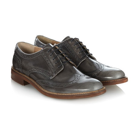 Trafalgar II Brush Off Brogue // Dark Grey (UK: 6)