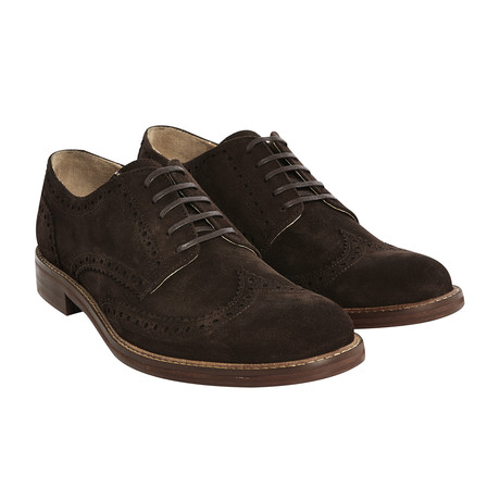 Aldwych Suede Brogue // Dark Brown (UK: 6)
