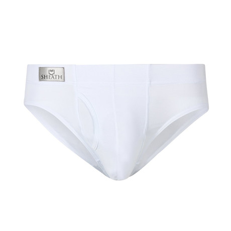 Sheath // Dual Pouch Brief // White (Small)