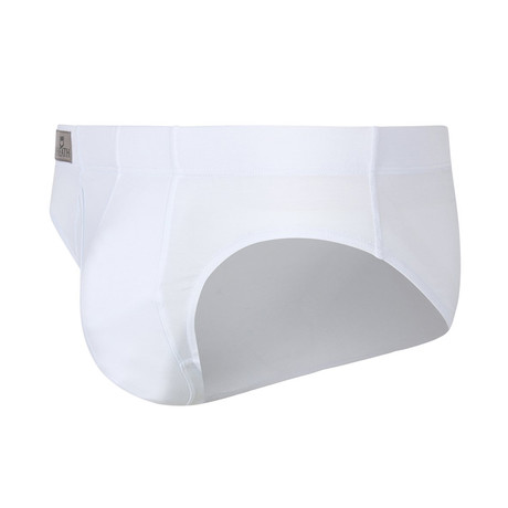 Sheath Dual Pouch Brief // White (Small)