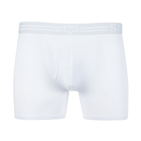 Sheath 4.0 // Dual Pouch Boxer Brief // White (Small)
