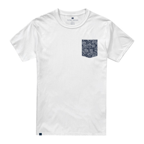 Vintage Floral Pocket T-Shirt // White (S)