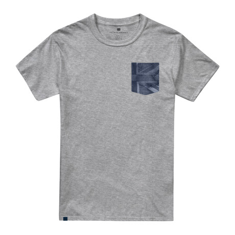 Union Flag Grey Marl (XS)