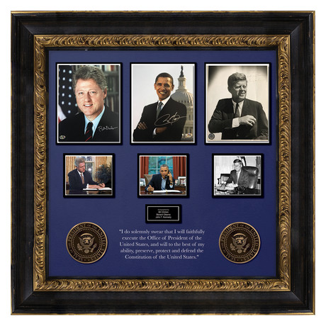 Signed + Framed Collage // Presidential Collage