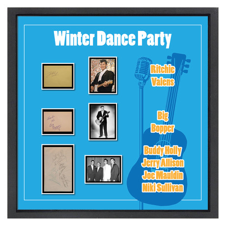 Signed + Framed Signature Collage // Winter Dance Party