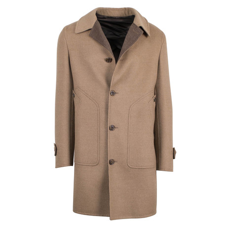 Belvest // Lion Brown Wool Coat // Brown (Euro: 48)