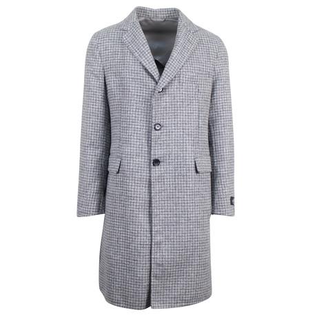 Belvest // Check Alpaca Blend Coat // Gray (Euro: 48)