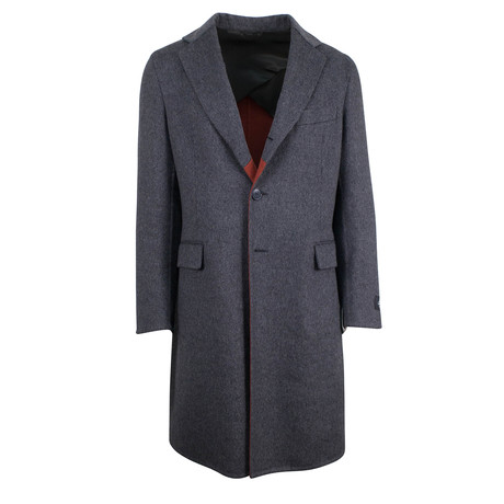 Belvest // Wool Full Length Coat // Gray (Euro: 48)