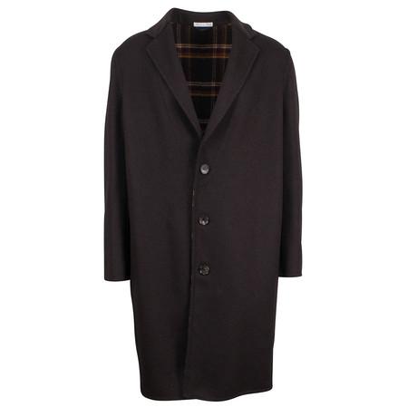 Belvest // Wool Blend Full Length Coat // Brown (Euro: 48)