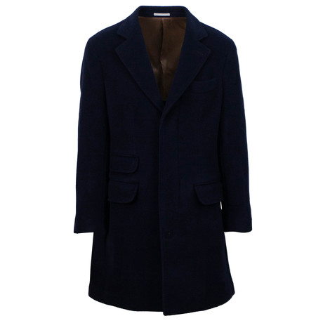 Brunello Cucinelli // Wool Blend Overcoat // Blue (Euro: 48)