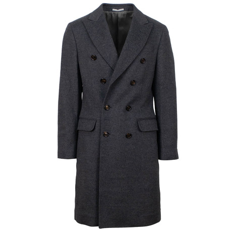 Brunello Cucinelli // Double Breasted Wool Blend Coat // Gray (Euro: 48)