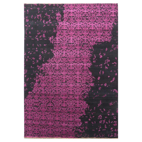 Damask Collection // Handcrafted Decorative Wool + Silk Rug