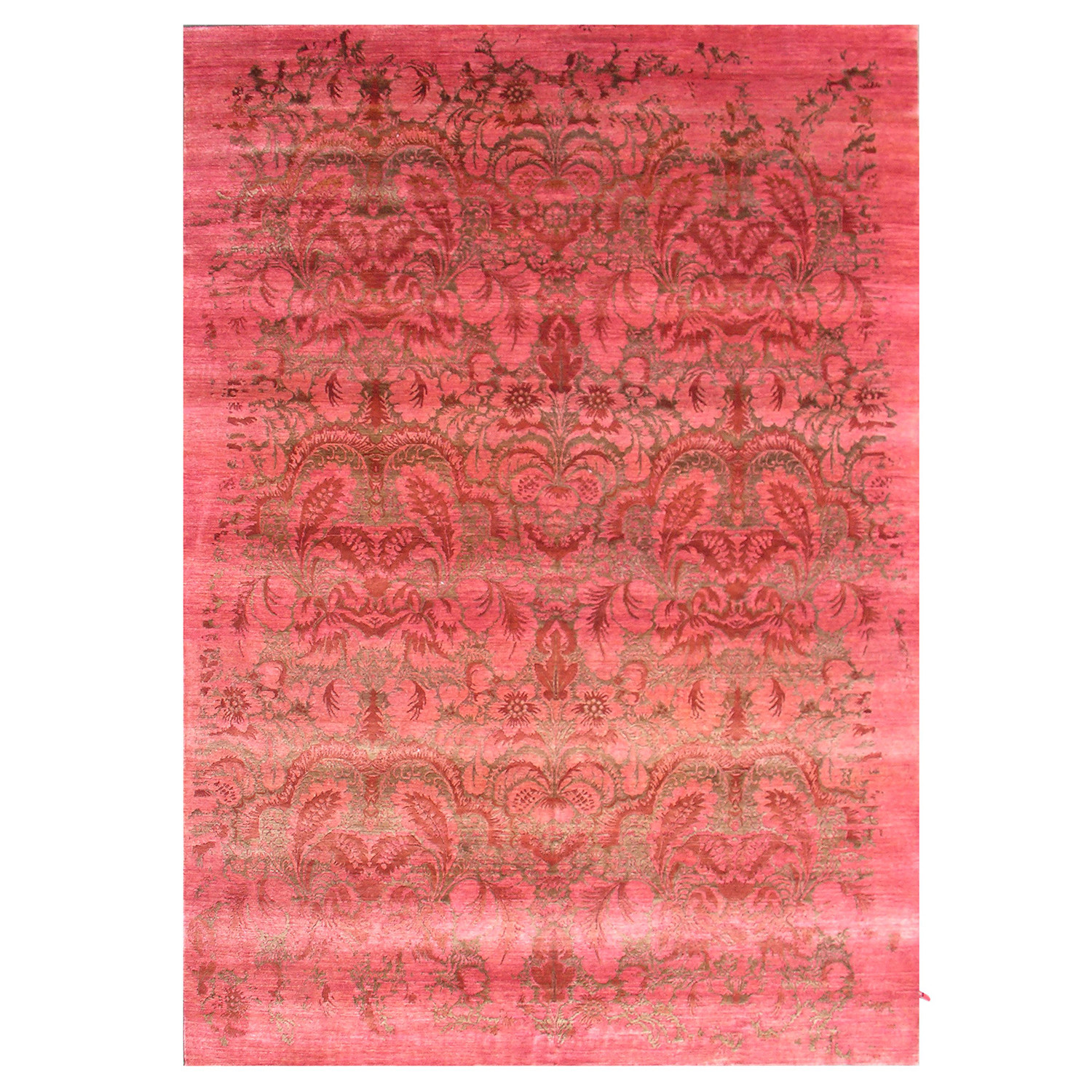 Carved Damask Rug: Damask Collection // Handcrafted Decorative Bamboo Silk