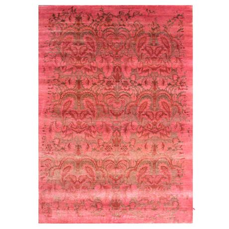 Damask Collection // Handcrafted Decorative Bamboo Silk Rug
