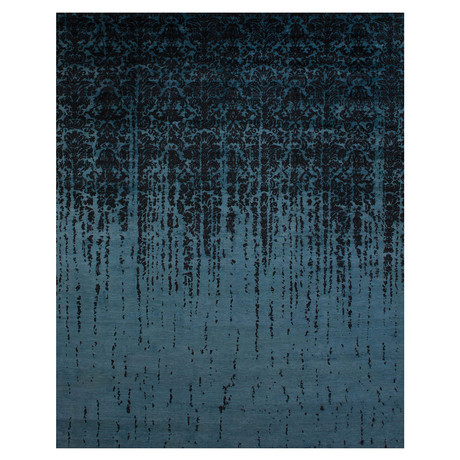Damask Collection // Handcrafted Decorative Wool + Art Silk Rug