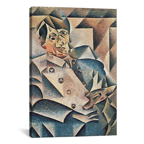 """Portrait of Pablo Picasso // 1912 (26""""W x 18""""H x 0.75""""D)"""