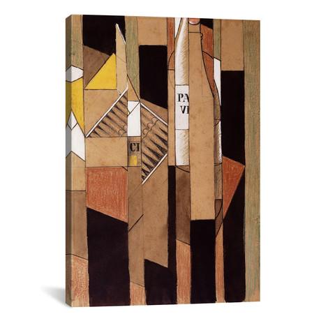 "Still-life with Bottle + Cigars // Nature Morte avec Bouteil (26""W x 18""H x 0.75""D)"