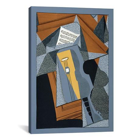 """The Guitar // illustration for the poem 'Au soleil du plafond' (26""""W x 18""""H x 0.75""""D)"""