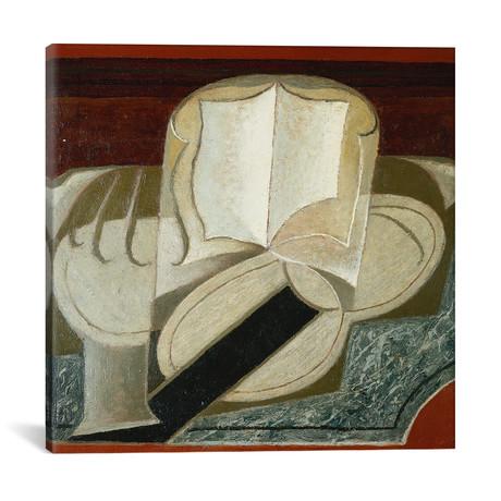"""Books + Guitar (Le Livre et la Guitare) // 1925 (18""""W x 18""""H x 0.75""""D)"""