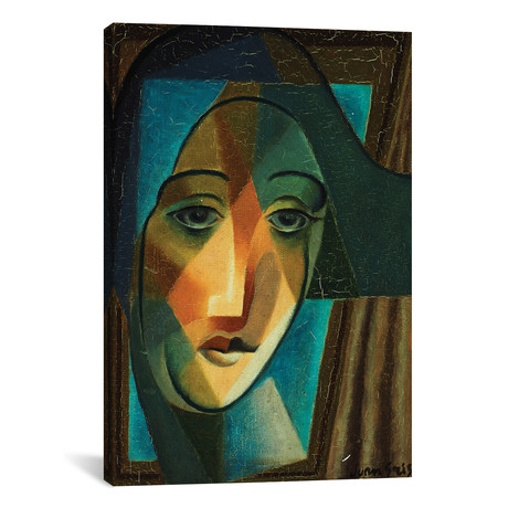 "Head of a Harlequin // Tete d'Arlequin // 1924 (26""W x 18""H x 0.75""D)"