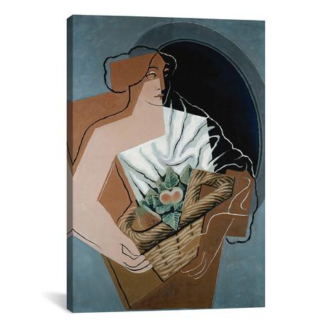 """Woman with Basket // La Femme au Panier // 1927 (26""""W x 18""""H x 0.75""""D)"""