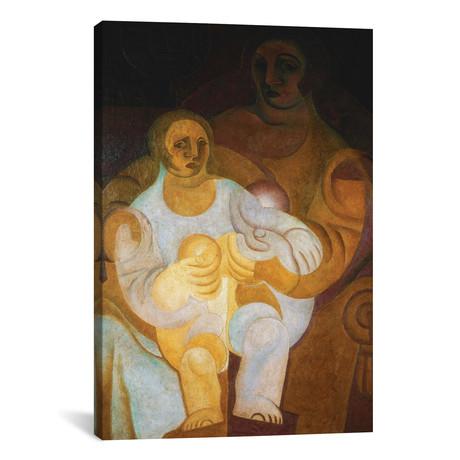 """Mother + Child (Mere et Enfant) // 1922 (26""""W x 18""""H x 0.75""""D)"""