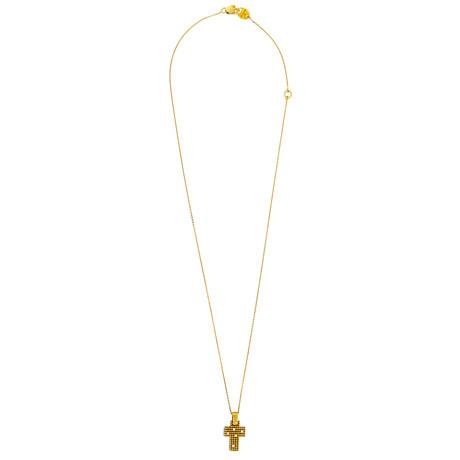 "Damiani 18k Yellow Gold Diamond Necklace // Chain: 18"""