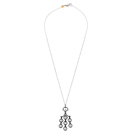 Damiani 18k White Gold + 18k Yellow Gold Diamond Necklace // Chain Length: 20""