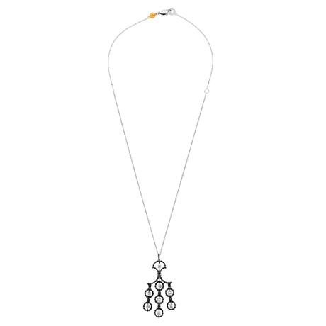 "Damiani 18k White Gold + 18k Yellow Gold Diamond Necklace // Chain: 20"""