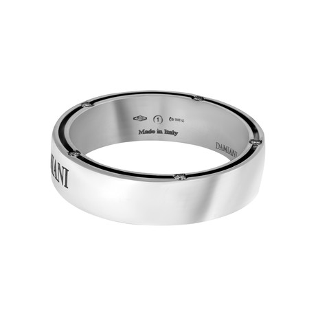 Damiani 18k White Gold Diamond Ring II // Ring Size: 10