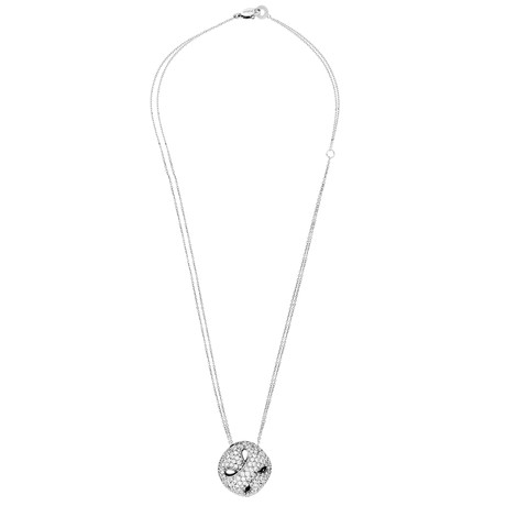 Damiani 18k White Gold Diamond Necklace // Chain Length: 20""