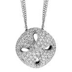 "Damiani 18k White Gold Diamond Necklace // Chain Length: 20"""