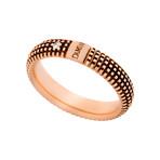 Damiani 18k Black Gold + 18k Rose Gold Diamond Ring // Ring Size: 7