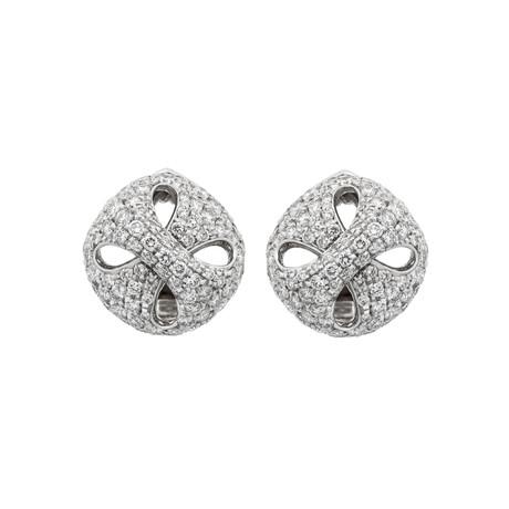 Damiani 18k White Gold Diamond Earrings II