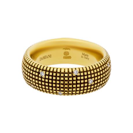 Damiani 18k Yellow Gold Diamond Ring // Ring Size: 7