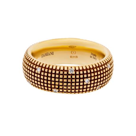 Damiani 18k Rose Gold Diamond Ring // Ring Size: 7