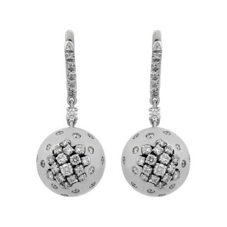 Damiani 18k White Gold Diamond Earrings III