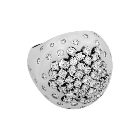Damiani 18k White Gold Diamond Ring III // Ring Size: 7