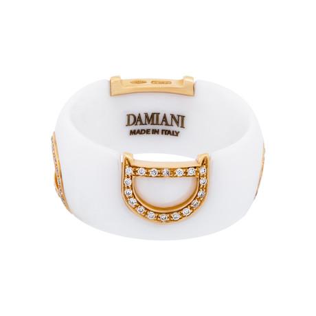 Damiani 18k Rose Gold Diamond Ring (Ring Size: 6)