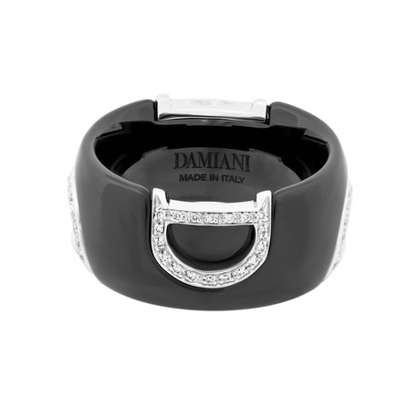 Damiani 18k White Gold Diamond Ring // Ring Size: 6