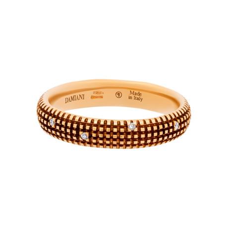 Damiani 18k Rose Gold Diamond Ring II // Ring Size: 10 (Ring Size: 7)