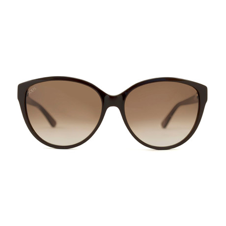 Tod's // Women's Cat Eye Sunglasses // Brown + Brown Gradient