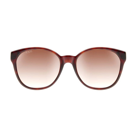 Tod's // Women's Wayfarer Sunglasses // Tortoise + Brown Gradient