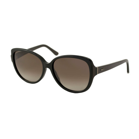 Tod's // Women's Large Square Sunglasses // Black + Grey Gradient