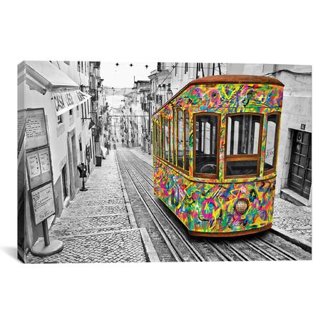 """Lisbon Tram // Ben Heine (18""""W x 26""""H x 0.75""""D)"""