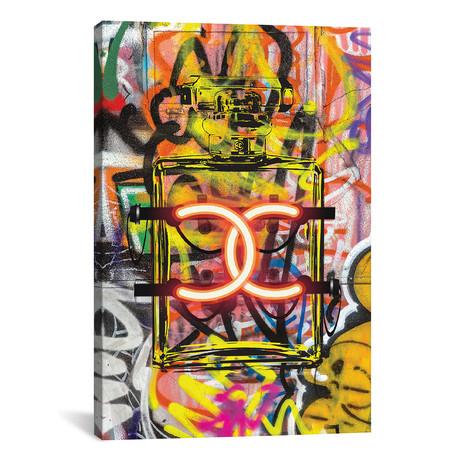 "CC Neon Graffiti // Amanda Greenwood (26""W x 18""H x 0.75""D)"