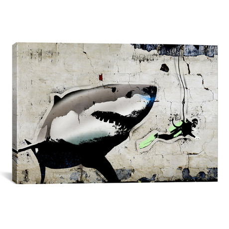 """Shark Bait // 5by5collective (18""""W x 26""""H x 0.75""""D)"""