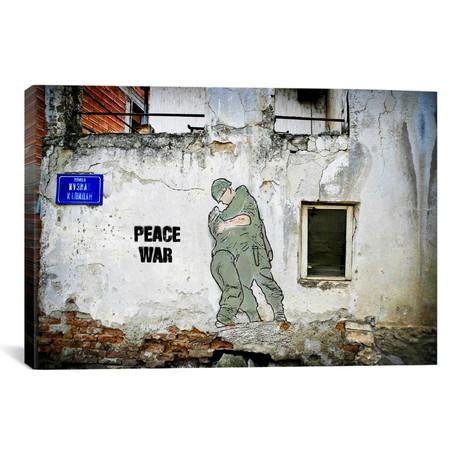 "Peace War // Luz Graphics (18""W x 26""H x 0.75""D)"