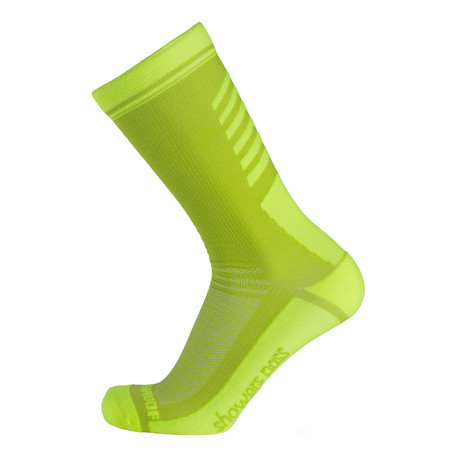 Lightweight Waterproof Socks // Neon Green (XS/S)