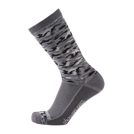 Lightweight Waterproof Socks // Grey Camo (XS/S)